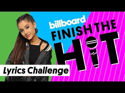 Ariana Grande Lyrics Challenge   Finish the Hit   Billboard