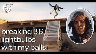 Breaking 36 Lightbulbs With My Balls! - Steve-O - The Sidemen Show