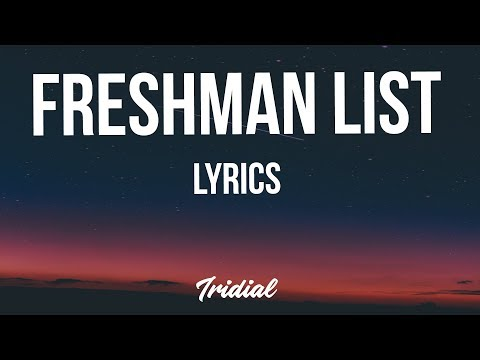 NAV - Freshman List (Lyrics)