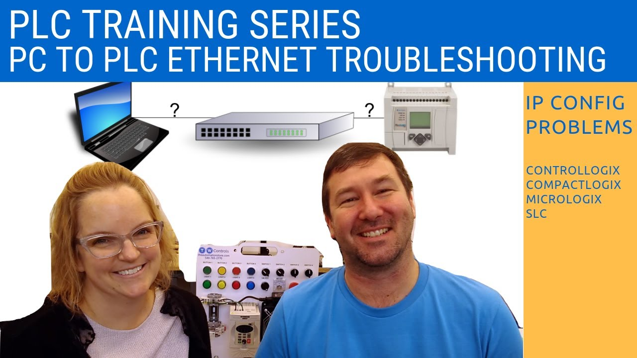 PC to PLC Ethernet troubleshooting - IP Address and Network Configuration -  Allen Bradley RsLogix