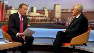 John McDonnell on the Marr Show 21.1.18