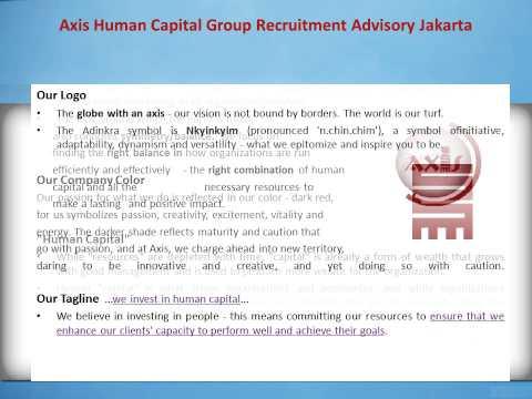 Axis Human Capital Group Recruitment Advisory Jakarta: Our Name, Logo and Tagline