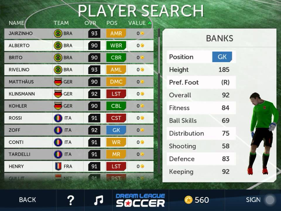 Dream league soccer cheat free players youtube