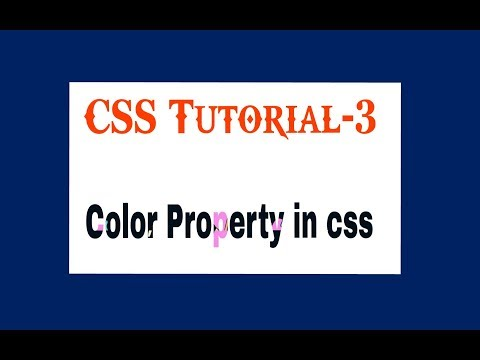 Color property in CSS || tutorial-3🔥🔥 thumbnail