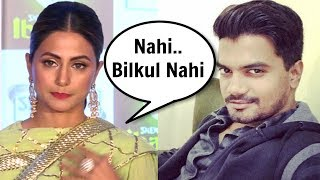 Hina Khan Sad Reaction On Boyfriend Rocky Jaiswal Keeping Roza For Her