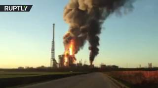 One of Italy's biggest oil refineries on fire after explosion reported