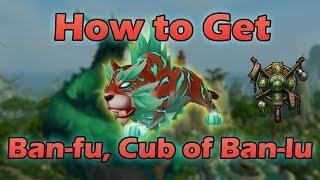 How to Get Ban-fu Cub of Ban-lu  New Monk Class Pet