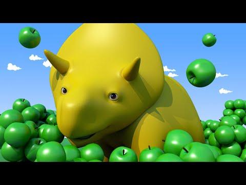 NAUKA KOLORÓW Zbieramy Owoce ucz się z Dino dinozaurem Bajki Edukacyjne dla Dzieci