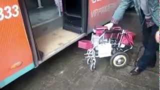 Инвалидная коляска с электро приводом облегченная всего 22 кг! с алюминиевым корпусом из Китая!(Электрическая инвалидная коляска с облегченным корпусом из алюминия общим весом вместе с батареей всего..., 2015-04-07T11:09:47.000Z)