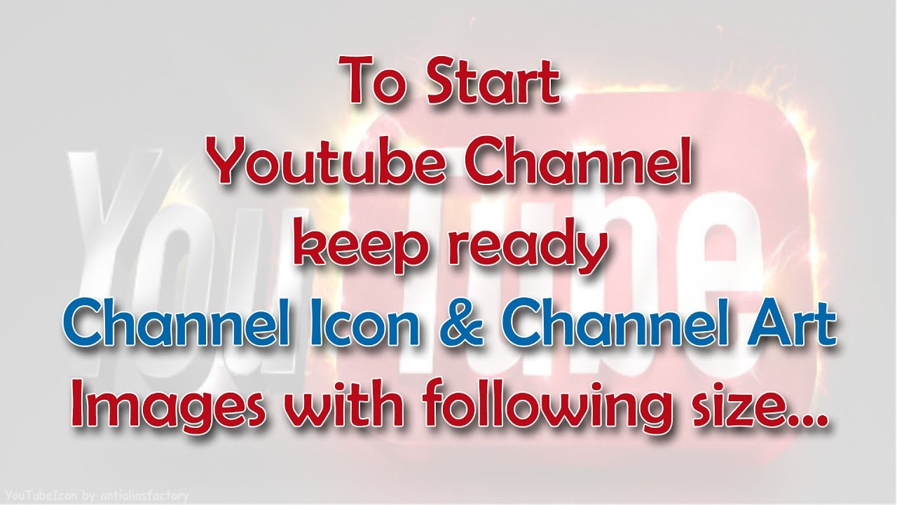 Youtube Hd Channelart And Icon Size Youtube