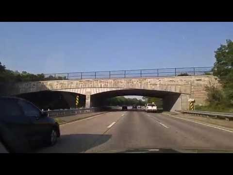 Driving by Heckscher State Parkway from West Islip to Great River,New York