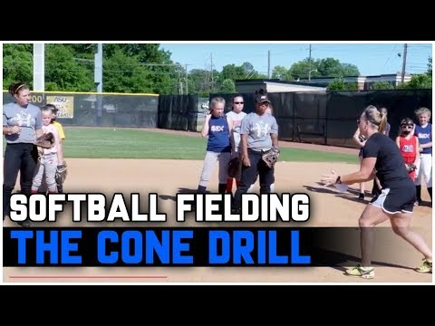 Youth Softball Fielding - The Cone Drill - Coach Christina Steiner-Wilcoxson