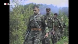 Greek Volunteers and Golden Dawn members during operations in the Srebrenica massacre, July 1995