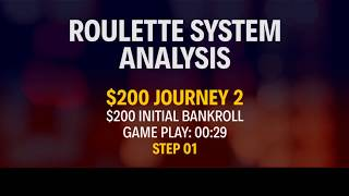STRATEGY APPLICATION - REAL MONEY - $200 Journey 2 - Part 01
