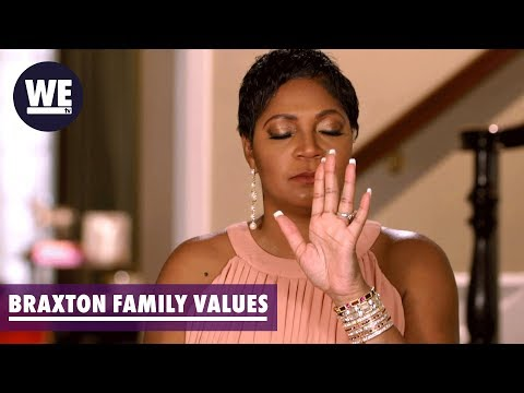 Tearful Trina Reacts to Family Conflict | Braxton Family Values | WE tv