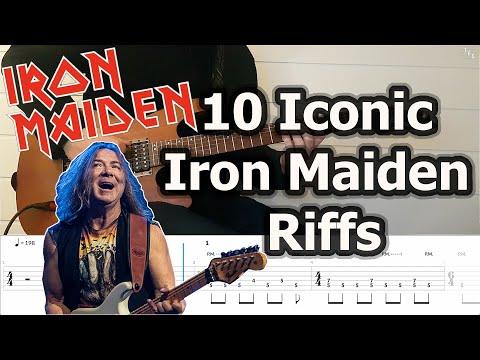 10 Iconic Iron Maiden Riffs (Guitar Cover Tutorial With Tabs)