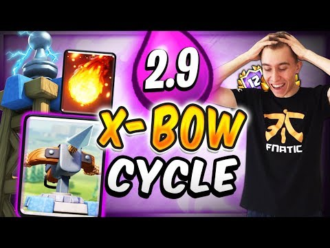 DOMINATING w/ 2.9 FAST CYCLE XBOW DECK  — Clash Royale