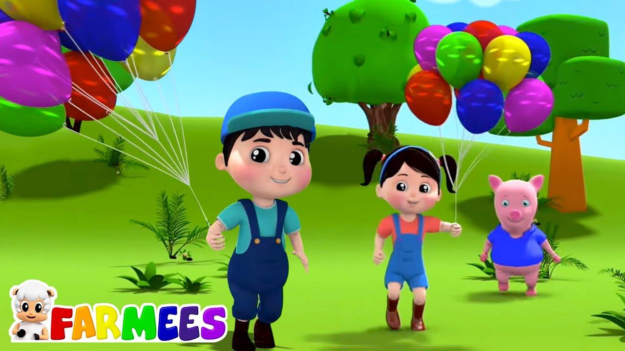 The Balloon Song   Balloon Fair   Nursery Rhymes & Kids Songs   Animal Cartoon - Farmees