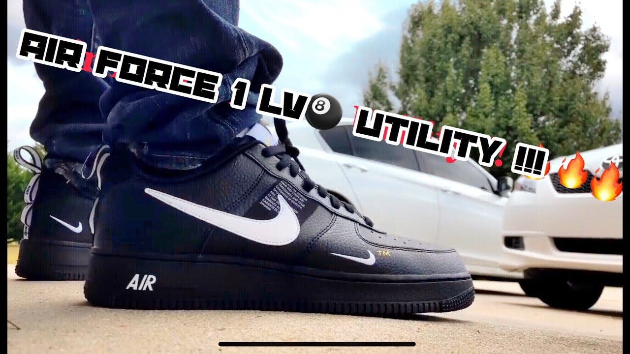 nike air force utility on feet