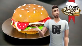 FastGood en Sims ! Recette du gâteau Hamburger XXL