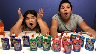 connectYoutube - NEW ELMER'S WASHABLE COLOR GLUE - MAKING FOUR GIANT SLIMES