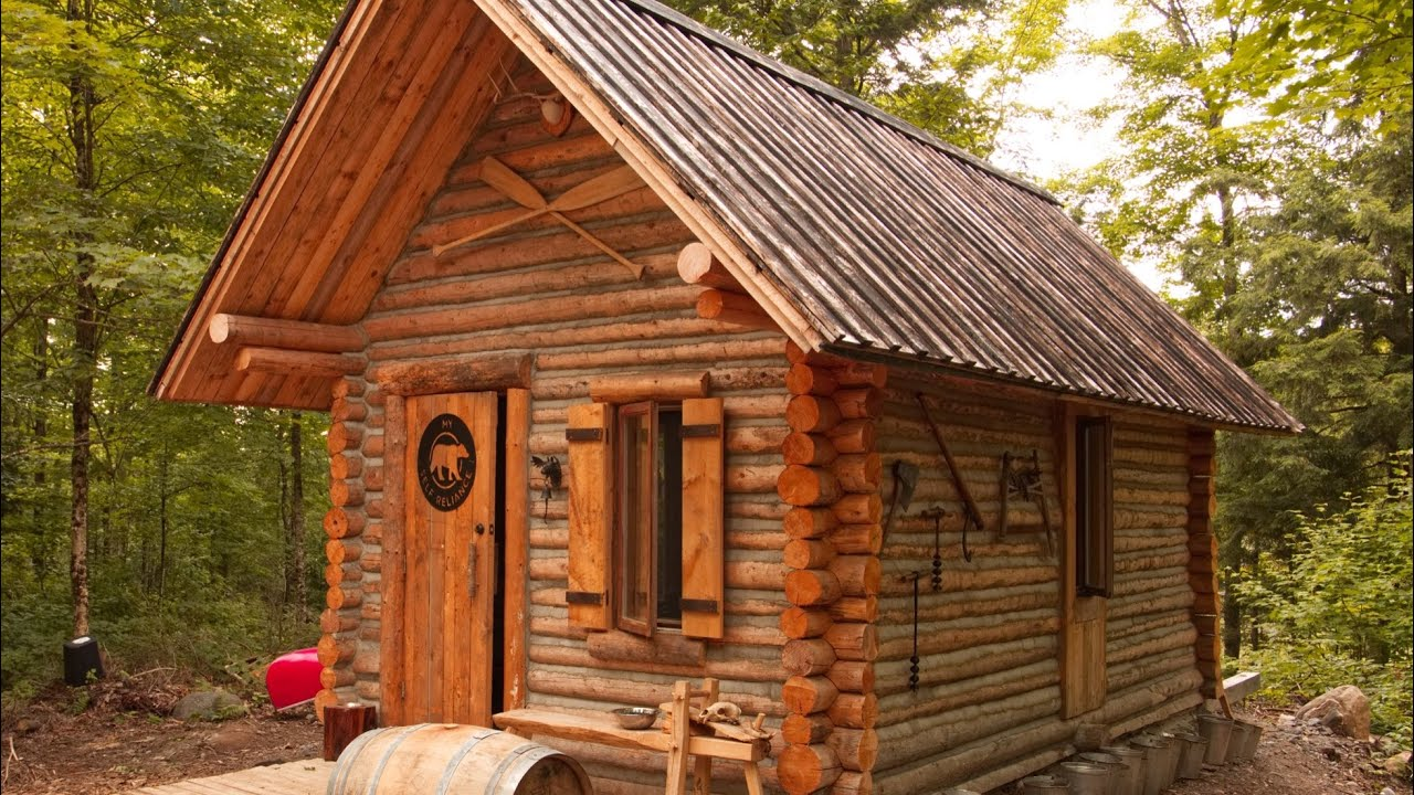 Log Cabin Timelapse Built By One Man In The Forest Youtube