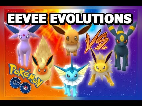 EEVEE EVOLUTIONS GYM BATTLES POKEMON GO | SUN & MOON WIFI BATTLES | AMAZING EEVEE GYM
