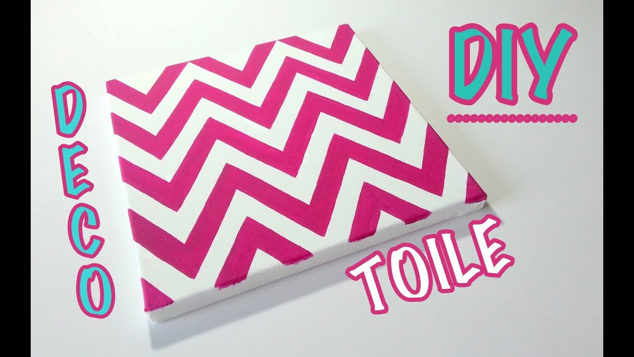 Favori DIY Déco Comment faire une toile motif ZIG ZAG - YouTube HQ34