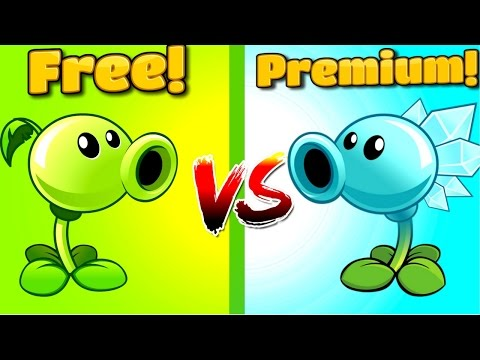 Plants vs Zombies 2 PEASHOOTER VS SNOW PEA