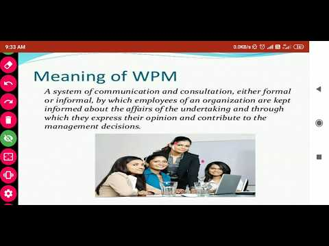 WORKERS PARTICIPATION IN MANAGEMENT (WPM)