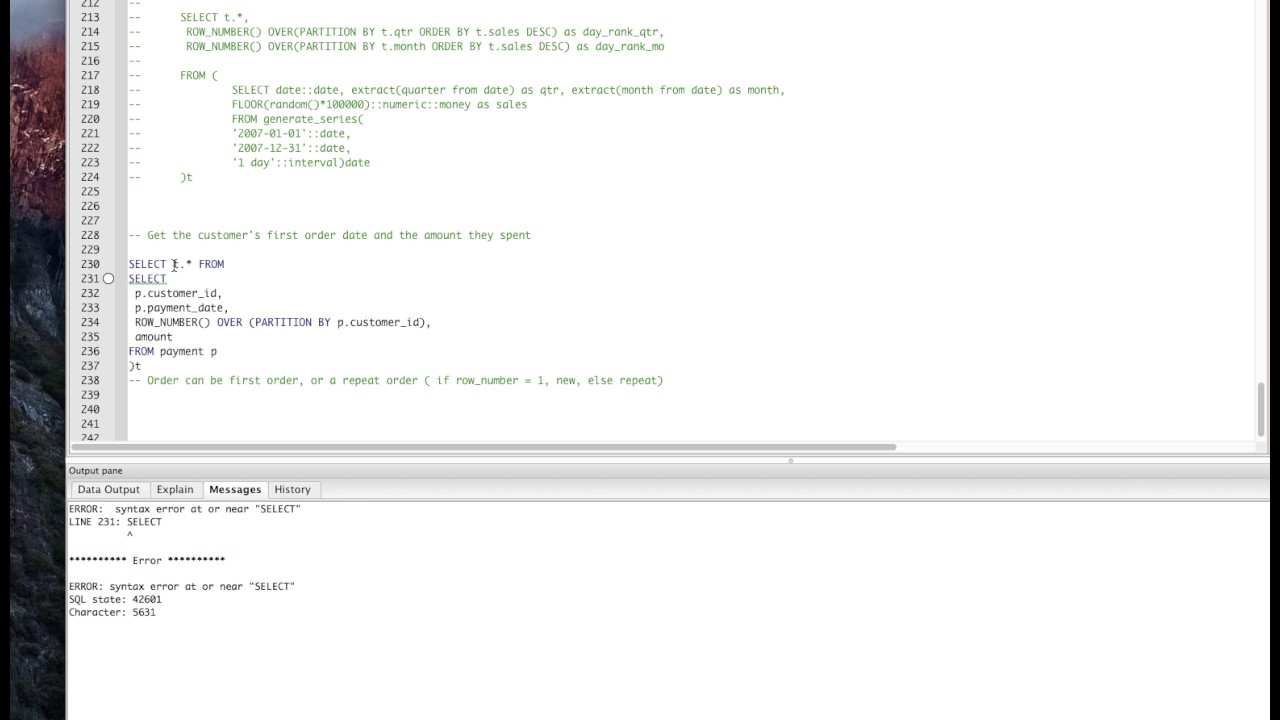 SQL - Break out Customer Orders by New vs Repeat