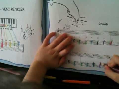 Piyano Dersi Nota Boyama Solfej Youtube