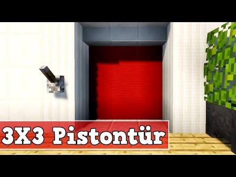 Wie Baut Man Eine 3x3 Piston Tur In Minecraft Minecraft Piston Tur