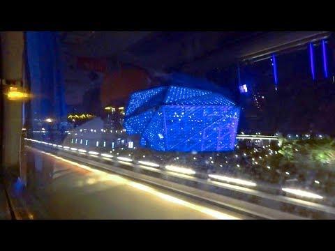 大陸東北瀋陽市區夜晚街頭1/4 Night street Shenyang (China)