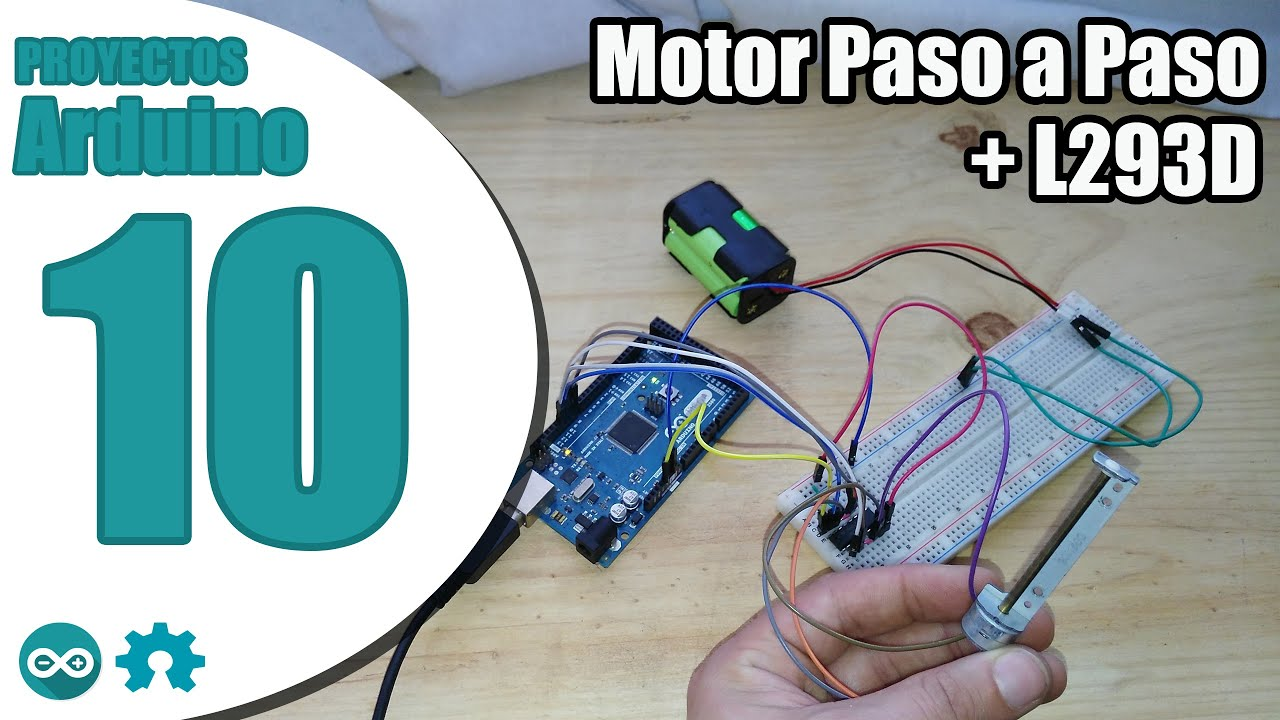 Proyecto arduino n° motor paso a youtube