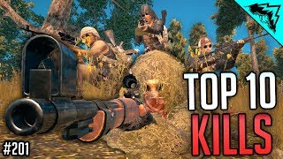 DROP SHOT - TOP 10 Player Unknowns Battlegrounds Plays - WBCW #201 (PUBG Top 10 Kills)