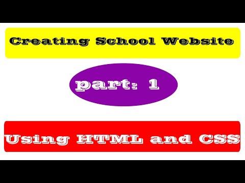 [PART 1] Creating Vishwa Adarsha School Website Using HTML And CSS