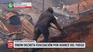 Al menos tres casas resultaron dañadas por incendios en Cerro Jiménez