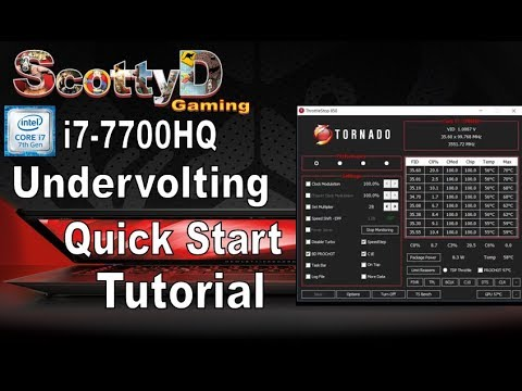 i7 7700HQ Undervolt Safe Quick Tutorial  Plus Throttlestop Run on Start  Guide (Task Scheduler)