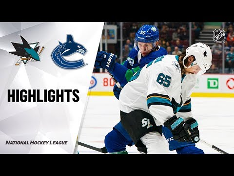 NHL Highlights | Sharks @ Canucks 1/18/20