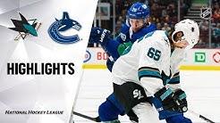 NHL Highlights   Sharks @ Canucks 1/18/20