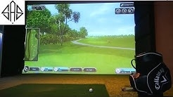THIS IS OUR NEW INDOOR GOLF SIMULATOR!
