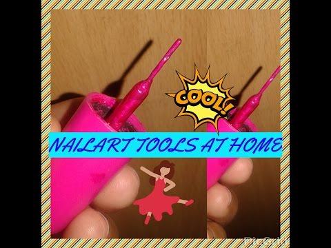 Nailart Brush at Home | Reuse your waste nail paint bottle | DIY Nail art tool