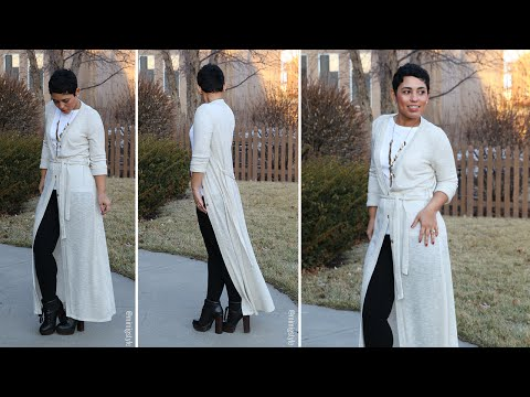 Floor Length Duster Cardigan Sew Along!