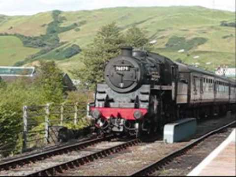 Steam Engine Shunting Stock at Machynlleth