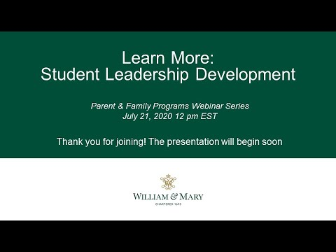 Learn More: Student Leadership Development