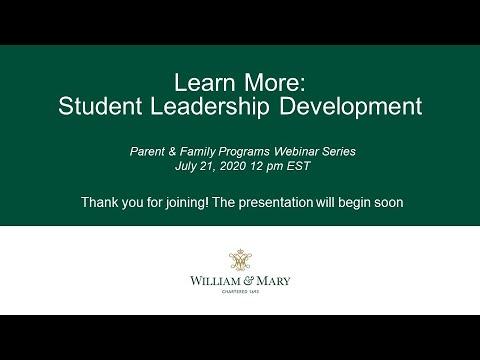 Learn More: Student Leadership Development