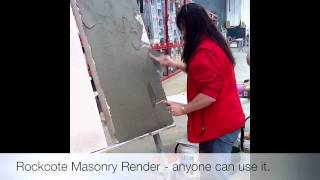Rockcote Masonry Render Demo: Bunnings