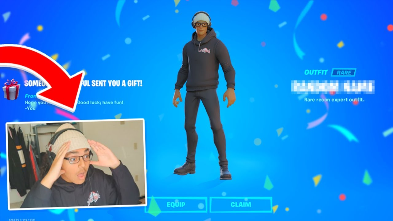 Gifting CUSTOM SKINS to FANS in Fortnite!