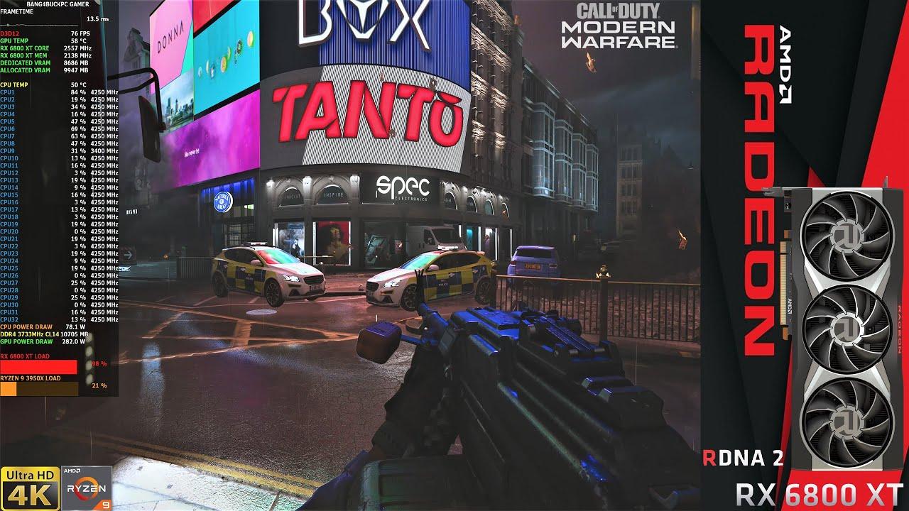 Download Modern Warfare 2019 Ultra Settings DX Raytracing 4K | RX 6800 XT | Ryzen 9 3950X